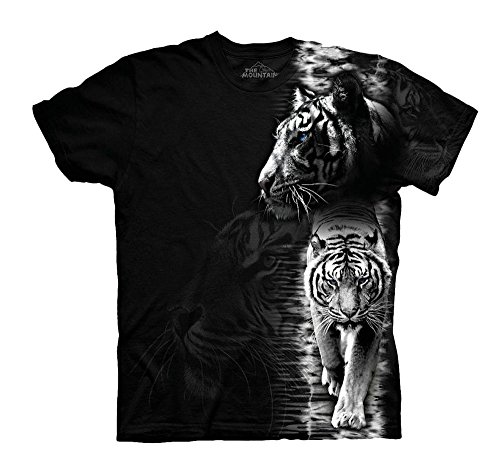 The Mountain White Tiger Stripe (3XL) (T-shirt Stripe Mountain)