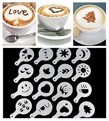 Kaffee-tool (16x Cappuccino Schablone Kaffee Kuchen Deko Tools)