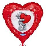 Ballon aluminium St Valentin LOVE YOU Me To You Tatty Teddy Coeur Rouge - 46cm