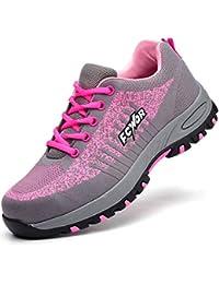 SROTER Scarpe Antinfortunistiche Uomo Donna Scarpe da Lavoro con Punta in Acciaio Leggere Traspiranti Sneaker da Lavoro Leggere ed Eleganti Scarpe Sportive di Sicurezza
