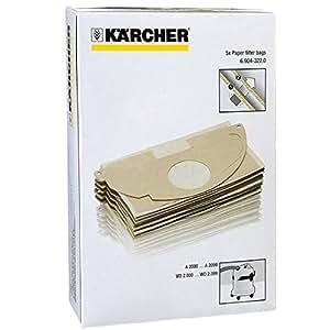 karcher mv2 wd2 aspirateur solide double couche sacs poussi re lot de 5 cuisine. Black Bedroom Furniture Sets. Home Design Ideas