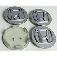 4 x Honda 70 mm Alloy Wheel Badges Center Hub Caps cromo plata Accord Civic CV