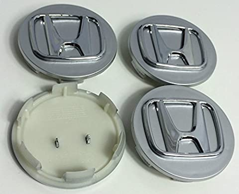 4 x Honda 70 mm Alloy Wheel Badges Centre Hub Caps Chrome Argent Accord CIVIC Lames de r
