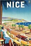 Poster 40 x 60 cm: Nizza, um 1930 von Eff d'Hey/ARTOTHEK -
