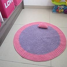 Tapis au crochet pour chambre de bébé ou petite fille, tapis ...
