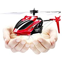 SYMA W25 Helicóptero RC de 2 canales con girocompás helicóptero anti colisión interior / exterior Mini Navidad / cumpleaños regalos para niños TIME4DEALS (Rojo)