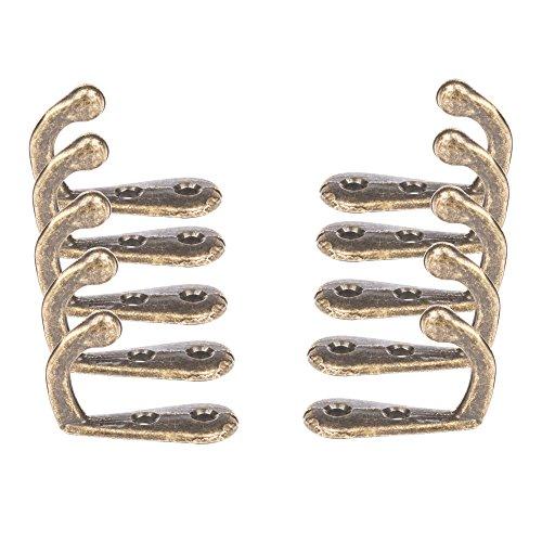 Single Kleiderhaken Bronze (10Pack) bietet Ihnen Stil, Qualität und Kraft in Ihr Hause. Perfekt für diese kleinen Haken inklusive Handtuch Haken, Kleiderhaken, Tür Haken & Wand Haken (Bronze Kleiderhaken)