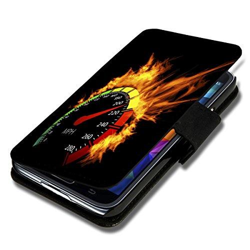 Book Style Flip Handy Tasche Case Schutz Hülle Schale Motiv Etui für Apple iPhone 4 / 4S - A49 Design8 Design 9