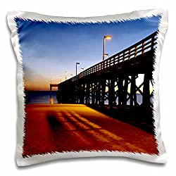 3dRose Public Pier, Gulf of Mexico, Panama City, Florida - Us10 Fvi0111 - Franklin Viola - pillow Case, 16 by 16-Inch (pc_89135_1)