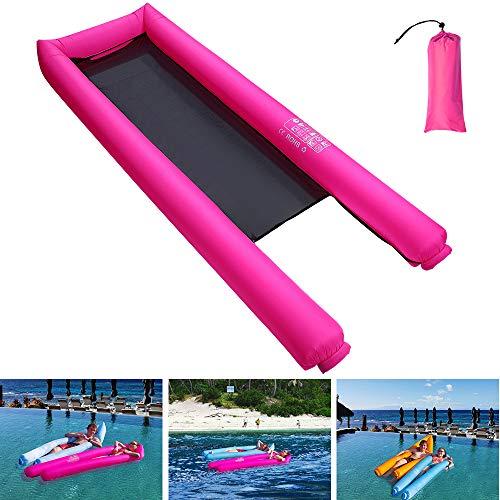 Coralov Aufblasbares Schwimmendes Bett, tragbare schwimmende Wasser-Hängematte für Erwachsene und Kinder, schnell aufpumpen, Keine Pumpe benötigt