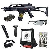 Pack complet Airsoft Pack G36C H&K Umarex 2.5620/fusil d' assaut à Ressort/ABS/Rechargement Manuel (0.5 Joule)-Livré avec Accessoires