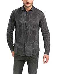 Desigual Disorder - Chemise casual - Taille normale - Manches longues - Homme