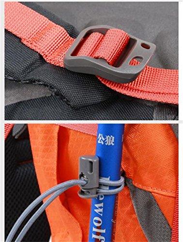 Im Freienbergrucksackbeutel Männer und Frauen reisen Rucksack Outdoor-Camping Wandern Bergsteigen Taschen Orange