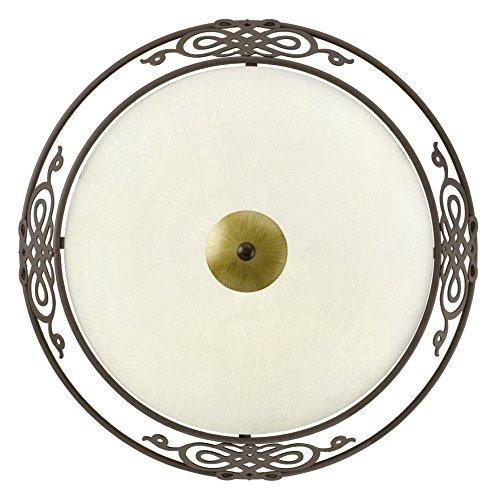 Eglo Wand Deckenleuchte Modell Mestre / in antikbraun goldenem Stahl und satiniertem Glas / HV 2 x...