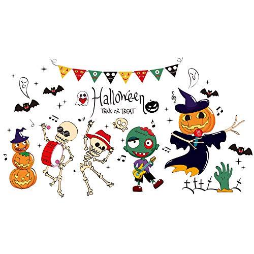 Kreative Halloween Dekorationen Wandaufkleber Malerei Kvt Bar Store Wandlayout Fenster Glastür und Fenster Aufkleber, Halloween Spinnennetz, Extra groß (Große Spinnennetze Halloween)