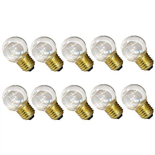10 x LED Tropfen 0,7W E27 KLAR Plastik warmweiß 2700K für außen Kugel Birne