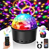 Discokugel LED Stimmungslichter Kinder SOLMORE Disco Licht Partyleuchte Disco Lichteffekt Timing-Funktion 9 Farbe mit Fernbedienung & USB für Kinder Halloween Weihnachten Geburtstag Karaoke Club Bar