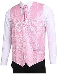 LL L   L Herren Weste mit Paisley-Muster Weste und Krawatte Einstecktuch  Set für 739a8b7994