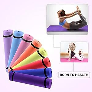 Tapis de yoga non toxique anti derapant avec sangle de for Tapis yoga avec canapé avec pouf intégré