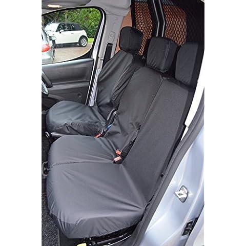Van Peugeot Partner dal 2008 in poi sedile del conducente e passeggero anteriore Nero Seat (Sedile Anteriore Del Passeggero)