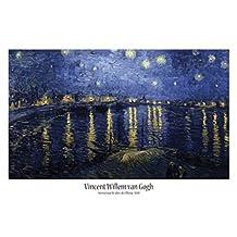 Vincent Van Gogh - Noche Estrellada Sobre El Ródano, 1888 Póster (91 x 61cm)