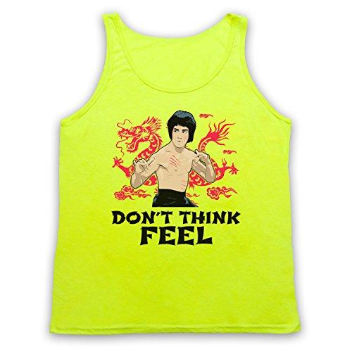 Bruce Lee Don't Think Feel Tank-Top Weste Neon Gelb