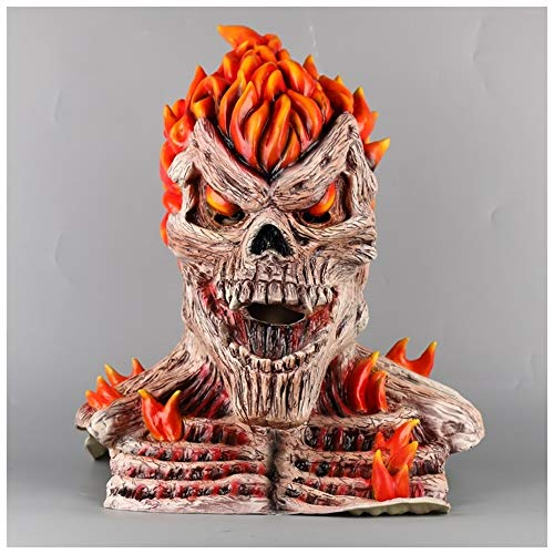 YaPin Punisher Ghost Knight Hood Maske Flammenmaske Halloween Ball Show Dress Up Spiel COS Requisiten