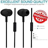 High Bass Wired Earphone With Mic Compatible For Asus ZenFone 3 Laser, Asus ZenFone 3, Asus ZenFone Max, Asus ZenFone 3s Max, Asus ZenFone 3 Max (Black)