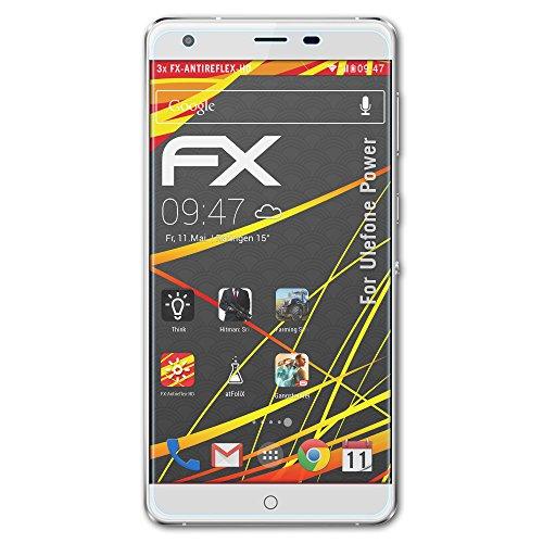 atFolix Schutzfolie kompatibel mit Ulefone Power Bildschirmschutzfolie, HD-Entspiegelung FX Folie (3X)
