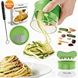FabQuality Premium Espiralizador vegetal ESPECIAL VERANO Veggetti espiral Slicer Paquete completo + BONUS INC