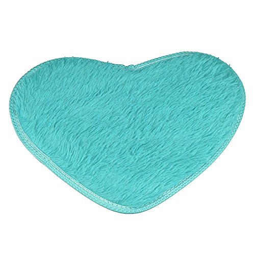 Committede Herzform Flauschig Teppich Wohnzimmer Nachahmung Wolle Sofa Matte Teppich für Wohnzimmer, Schlafzimmer, Flur, Badezimmer-Teppich, rutschfest, 40 * 28cm