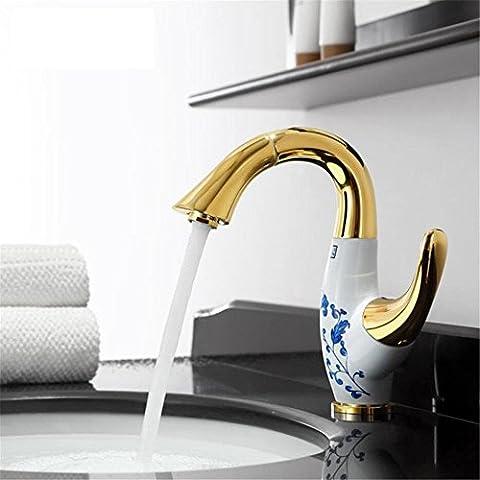 Modylee Dorato di lusso in ottone lavandino rubinetto estraibile golden bagno lavandino rubinetto in ottone rubinetto torneira banheiro bronzo dorato in ceramica rubinetto