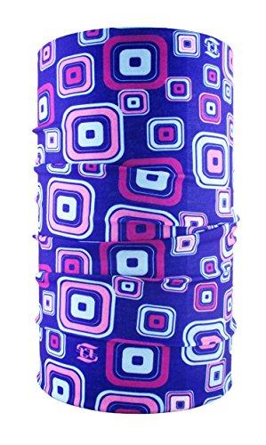 Head loop multifunción pañuelo multifunción bufanda Loop púrpura Retro pañuelo para la cabeza de microfibra