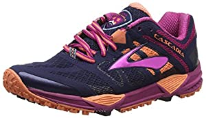 Brooks Women Cascadia 11-120204 1B 451 Trail Running Shoes, Blue (Peacoat/Batonrouge/Fusioncoral 451), 6.5 UK