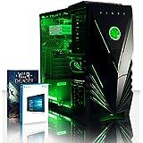 VIBOX Crusher 52 Gaming PC - 4,2GHz Intel i7 Quad Core CPU, GPUGT710, Presupuesto, Ordenador de sobremesa para oficina Gaming vale de juego, con unidad central, Windows10, Iluminaciàninterna verde (3,6GHz (4,2GHz Turbo) SuperrápidoInteli77700Quad 4-CoreCPUprocesador de Kabylake, Tarjeta gráficadedicada de 2GBNvidia GeforceGT710GPU, 16 GB 2133MHzDDR4RAM, 120GBunidad de estadosàlidoSSD, Discoduro2TB, Refrigeradorde laCPURaijintek, 85+ PSU400W, Caja deViboxverde)