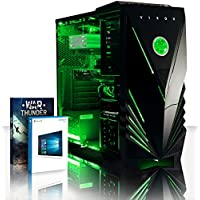 VIBOX Electron 9 Gaming PC Computer with War Thunder Game Voucher, Windows 10 OS (4.2GHz AMD FX 8-Core Processor, Nvidia GeForce GTX 1050 Graphics Card, 16GB DDR3 1600MHz RAM, 240GB SSD, 3TB HDD)