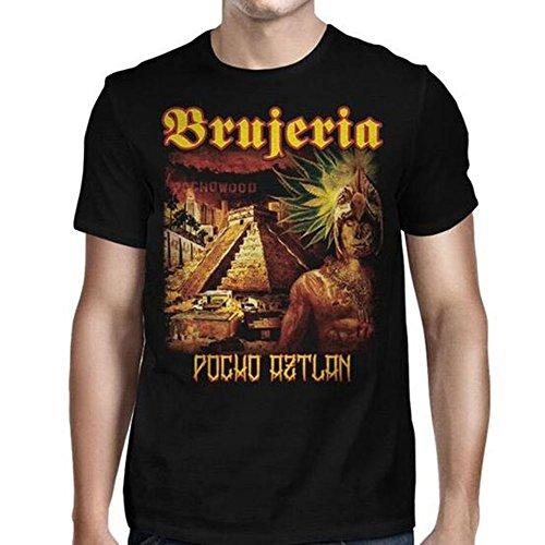 Brujeria - Männer Pocho Aztlan Viva Mexiko T-Shirt, Large, Black (Brujeria T-shirt)