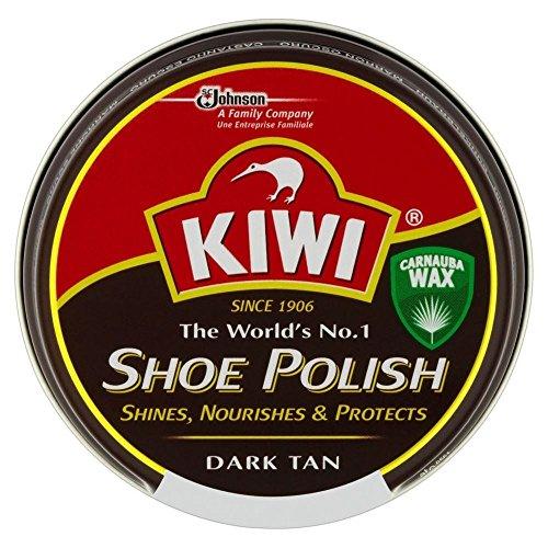 KIWI Kiwi Dark Tan Schuhcreme (50 ml) - Packung mit 6