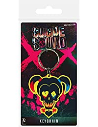 Pyramid International Suicide Squad Harley Quinn Skull Rubber Keychain, Multi-Colour, 4.5 x 6 cm