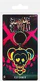 DC Llavero de goma con diseño de calavera de Harley Quinn del Escuadrón suicida de la marca Pyramid International, multicolor, de 4,5 x 6cm