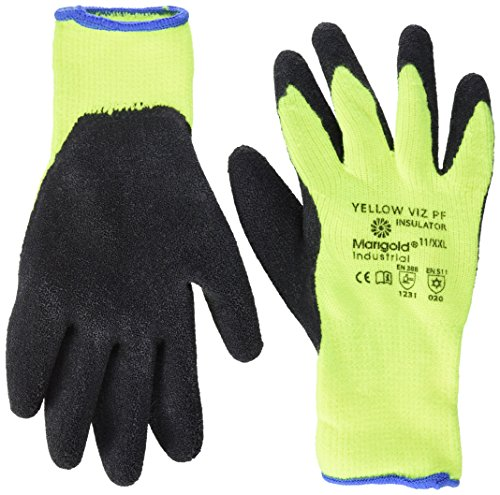 Ansell Viz PF Insulator Yellow Gants pour usage spécifique, protection mécanique, Noir, Taille 11 (Sachet de 6 paires)