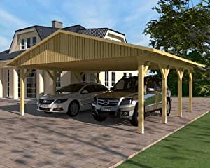 carport satteldach monte carlo v 600cm x 600cm bausatz kvh holz satteldachcarport. Black Bedroom Furniture Sets. Home Design Ideas