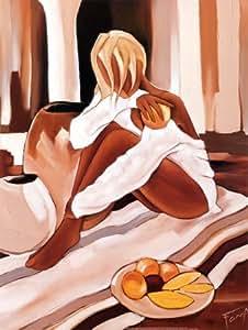 Reproduction d'art 'Pomelos roses', de Pierre Farel, Taille: 60 x 80 cm