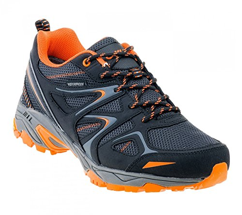 Hi-Tec Gabru-Black-Grey-Orange, Loisirs Homme Schwarz (Schwarz-Grau-Orange)