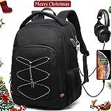 8d6f77ed83 Della Gao Zaino Antifurto TSA Friendly Zaino Porta PC Uomo Lavoro  Impermeabile USB Zaini Laptop 17.3