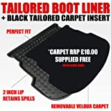 Honda JAZZ (2008-2014) Boot Liner Mat Tray with FREE Velour Insert worth ï3/4£9.99