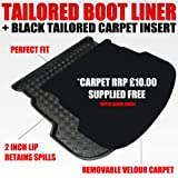 Unique Car Mats A4 AVANT/ESTATE (since 2008) Boot Liner Mat Tray with FREE Velour Inse.