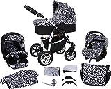 Milk Rock Baby Macano S Kinderwagen mit 3 Gestellfarben (Autositz, Regenschutz, Moskitonetz,...
