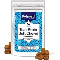 Petpost Chuches Masticables Quitadores de Manchas Oculares – Delicioso Suplemento para Manchas en los Ojos de los Perros – Tratamiento Natural para Perros de Pelaje Blanco – 90 ct.