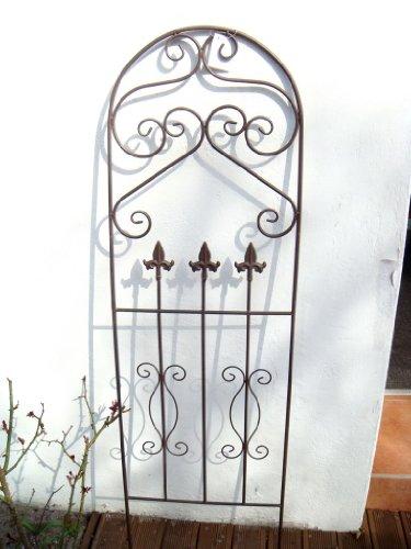 Gartenstecker Rankhilfe Rankgitter Gartendeko Metall Beetdeko Pflanzengitter rostbraun Deko landhausbraun 125cm Höhe
